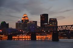 NightLife (Phyllis74) Tags: city skyline night lights cityscape cloudy kentucky louisville