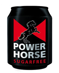 Power Horse Sugarfree (FoodBev Photos) Tags: red horse black metal energy can drinks energydrink beverages sugarfree powerhorse