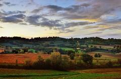 Paesaggio umbro al tramonto (Explore) (Massimo Greco _Foligno ( 3 Million views Thanks )) Tags: sunset tramonto day cloudy umbria vigneti sagrantino powerofart nikond800 nikonafs24120mmf4gedvr vision:sunset=0845 vision:mountain=0623 vision:clouds=0954 vision:car=0744 vision:sky=0967 vision:outdoor=0658