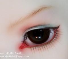 DIM Lalia Twin #2 Eye, Painted by Robbin Atwell (Robbin With 2 Bs) Tags: love twins bjd resin dim modification abjd lalia balljointeddoll dollinmind madwifeintheattic robbinatwell