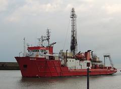 Marking time (crusader752) Tags: port harbour vessel shoreham drilling geotechnical fugro markab