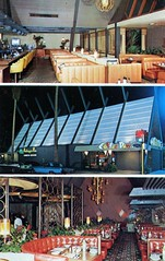 Coffee Dan's Van Nuys CA (Edge and corner wear) Tags: california coffee shop architecture modern vintage design pc postcard modernism chrome googie aframe midcentury