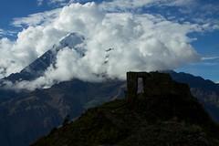 Peru - Day-hiking Ollantaytambo to Inti Punku Sun Gate 36 (mckaysavage) Tags: sun mountain peru clouds trekking geotagged gate mt ruin veronica alpine valley sacred inti apu ollantaytambo incan inkan punku willca waccay