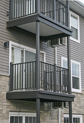 Wahoo Complete is a pre-fabricated balcony that includes railing, substructure framing and decking, all in one.