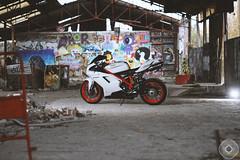 MOZ_8781 (YannMoz) Tags: urban paris france photography smoke motorbike burn versailles donut moto ducati exploration moz shoei fume dainese 848