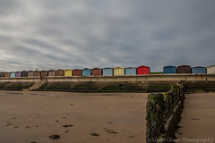 The Beach and Beach Huts (sarahOphoto) Tags: wood uk sea beach sand painted united steps kingdom huts essex frinton groins frintononsea