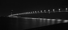 Humber Bridge Black&white (laufar1) Tags: longexposure bridge blackandwhite nightshot humberbridge humberbridgeviewingarea