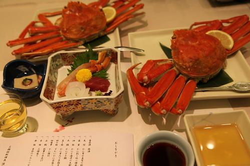 蟹でおもてなし