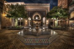Midnight in Casablanca (Explored) (Marc Perrella) Tags: world park travel blue tourism stone night clouds evening epcot disney morocco disneyworld showcase archhdr marcperrellaphotography marcperrellacom