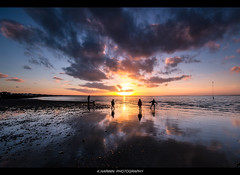 --------I--I--O--I--I-------- (Kevin HARWIN) Tags: uk blue sunset red sea england sky people sun beach water canon eos kent sand south sigma east 1020mm filters whitstable coking 60d