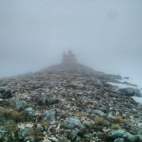A foggy rainy summit at Mt. Rumija in #montenegro 1595m / 5233ft