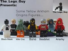 Lego: Some Yellow, Olive, And Gold/Gray Arkham Origins Figs (The_Lego_Guy) Tags: black lego mask killer croc floyd bane origins lawton arkham anarky deadshot