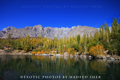 Lake Upper Kachura (C@MARADERIE) Tags: autumn trees mountain lake color reflection horizontal landscape colorful bluesky nopeople colorimage colorsofautumn kachura upperkachura skarduvalley lakeofpakistan lakesofpakistan lakeupperkachura