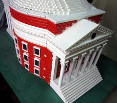 Rotunda northside (tbone_tbl) Tags: virginia university lego thomas lawn jefferson rotunda uva