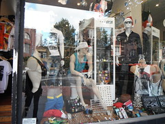 SUMMER STORM BOYS (RubyGoes) Tags: mannequins shop oxfordst darlinghurst sydney nsw australia singlets hats red white guys male menswear blokes clothes darlo reflections