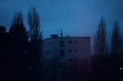(AlphaClaw Mind) Tags: blue trees sky window nature night clouds buildings lights landscapes frozen skylines ciel citylights nuages darkphoto naturelovers skyviews