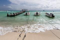 Playa del Carmen, Quintana Roo, Mexico (Inti Runa) Tags: seascape beach boat ngc playadelcarmen playa mexique rivieramaya plage quintanaroo