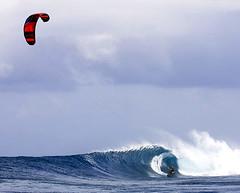 Kite Surfer at Palikir Pass, FSM