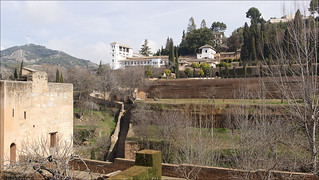 View to the Generalife, the Summer Palace of the Nasrid Emirs