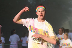 The Color Run- Clemson, South Carolina_DP_2014-1724 (dawsonpowers) Tags: people color sc race photo corn paint faces south run tigers carolina runners powers dawson 5k clemson starch
