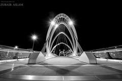 SeaFarer's Bridge (Zubairaslam) Tags: city white black architecture night photography grey blackwhite cityscape melbourne blacknwhite melbournecity