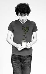 Day 331/365 Tea Leaves (Sebastian Dvila Art) Tags: boy portrait selfportrait art love me cup leaves heart sebastian tea surrealism surreal desire despair 365 autorretrato davila 365days