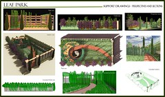 Leaf Park. Sections and perspective views Page Layout