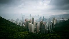 The Cityscape, Peak Tower, Hong Kong Island, SAR of CHina (monsieur I) Tags: asia abroad asian china cityscape clouds faraway hongkong hongkongbay hongkongisland huge monsieuri panorama peak skyscrapers thepeaktower travel traveler victoriapeak world