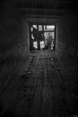 They Don't Die (Ulvraith) Tags: black white ghost silhouette urban tunnel sony a500 poland silesia street