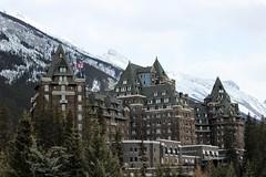 Banff National Park (mrwalli) Tags: banffnationalpark friendlychallenges banffspringshotel alberta canada castle mountains hotel flag