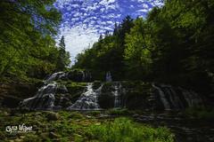 Egypt Falls, Nova Scotia (wilbias) Tags: canada sky morning water island blue clouds summer green waterfall falls cascade exposure egypt cape eastern august quick glen breton pipers