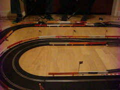 Scalextric - Winter Layout 2017 (Andy Reeve-Smith) Tags: audi a4 opel vauxhall vectra gm generalmotors vag scalextric slotcar slotcarracing slotcars hornby
