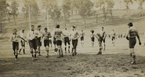 Schoolboy rugby game, Brisbane Grammar School, 1915