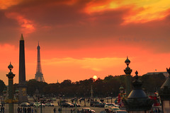 For the last time today (dhirajkumarhazra) Tags: paris dusk europe france concorde placedelaconcorde toureiffel obelisk sunlight sun