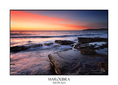 Sunrise from Maroubra (sugarbellaleah) Tags: ocean sunrise rocks waves seascape travel tourism water flowing maroubra landscape sky reef reflections beautiful australia