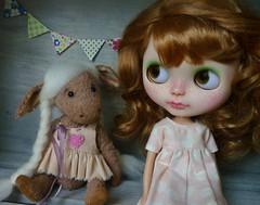 OOAK Artist teddy donkey Beth and Matilda
