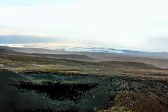 Mýrdalsjökull glacier seen on the Fimvörðuháls trail, Iceland (thorrisig) Tags: 17082012 fimmvörðuháls himininn sandfok iceland ísland island icelandicnature íslensknáttúra landscape landslag southiceland southoficeland thorrisig thorfinnursigurgeirsson þorrisig thorri thorfinnur þorfinnur þorri þorfinnursigurgeirsson desert view greatview vastness wilderness outdoors suðurland mýrdaldjökull