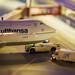 Miniatur Wunderland: Flughafen - Lufthansa Boeing B747