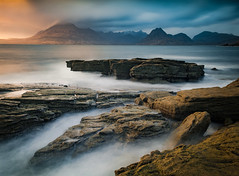 Leviathan (Dave Fieldhouse Photography) Tags: elgol skye isleofskye longexposure scotland highlands coastal seascape rocks mountains cullins blackcullin fuji fujifilm sunset evening march clouds outdoors lochscavaig ealaghol motion fujixpro2