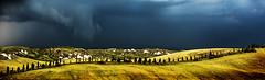 Italian panorama (madmtbmax) Tags: italy italian panorama scene scenery landschaft crete di senesi sienna toskana tuscany ngc storm stormy italia dramatic contrast