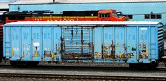 ELS 101701 (timetomakethepasta) Tags: els boxcar rusty st lawrence railroad baby blue photography selkirk new york yard