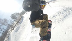 Fun in the Sun (SvyatAnhel) Tags: snowboarding snowboarder spring blue sky snow action tricks gopro