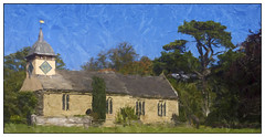 Croft Church (williamwalton001) Tags: building borders pentaxart plants park colourimage church outdoors woodlands nationaltrust trees texture fineart framed awardtree trolled