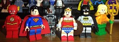 The Justice League! (puristdcfigs) Tags: justiceleague lego dc aquaman batman wonderwoman cyborg superman flash