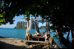 If I relax a bit more, I will melt (eweliyi) Tags: 365tm2r thailand krabi railaybeach ocean sea travel tranquility tropical tropics paradise serenity eweliyi me ja self woman girl sitting pose yoga