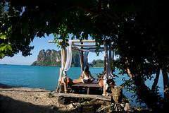 If I relax a bit more, I will melt (eweliyi) Tags: 365tm2r thailand krabi railaybeach ocean sea travel tranquility tropical tropics paradise serenity eweliyi me ja self woman girl sitting pose yoga