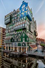 Inntel hotel Zaandam (a3aanw) Tags: hdr blauwuurtje zaandam primark architectuur hotel longexposure zonsondergang triggertrap intell 1835mm avondfotografie