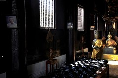 WAT PHAN TAO (Olivier Simard Photographie) Tags: thaïlande chiangmai watphantao templedesmillefours viharn teck wihan bouddhisme bouddha sukhothai lanna temple pagode theravadabuddhisttemple voyage asie nirvāna siddhārthagautama phrasingh statue prière thailand templeofthethousandovens teak buddhism buddha pagoda trip asia nirvana pray chiangmaï whiteelephantlegend or gold travel buddhahood templedugrandstupa watchediluangvaraviharn watchediluangworawihan prières foi wat templeofthegreatstupa faith