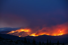 Entering Fire Season! (Jeffrey Sullivan) Tags: copyright usa news jeff nature night forest canon landscape fire photo all 21 nevada sierra september rights sullivan eastern reserved 2012 wildfire 2011 wwwmyphotoguidescom 5dmarkiii garnerfille
