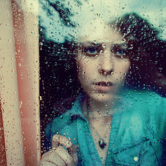(Erica Perry) Tags: vacation portrait reflection girl rain contrast self dark colorful pretty bright michigan surreal arbor ann selfie